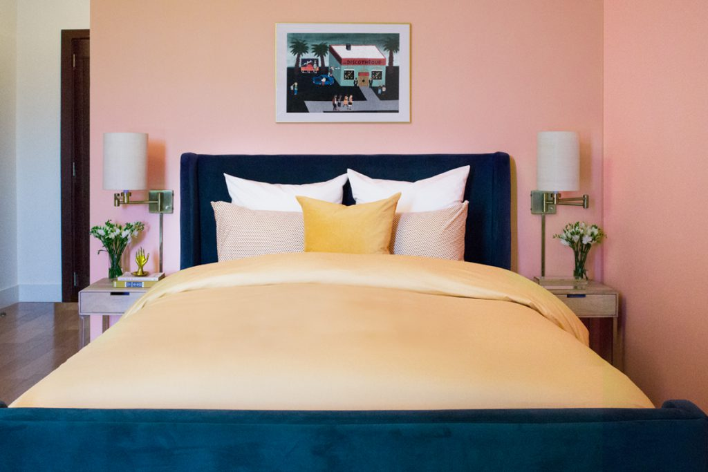 Before and after of master bedroom. Home interior design