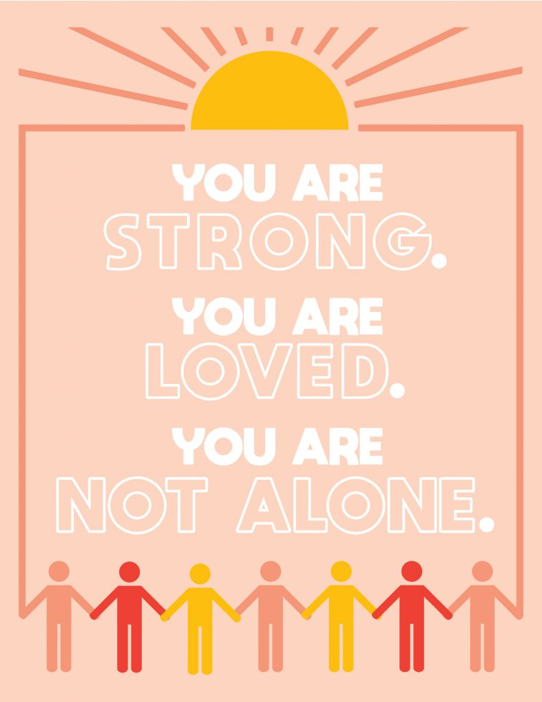 You Are Not Alone 1 Printable Poster for Covid Patients