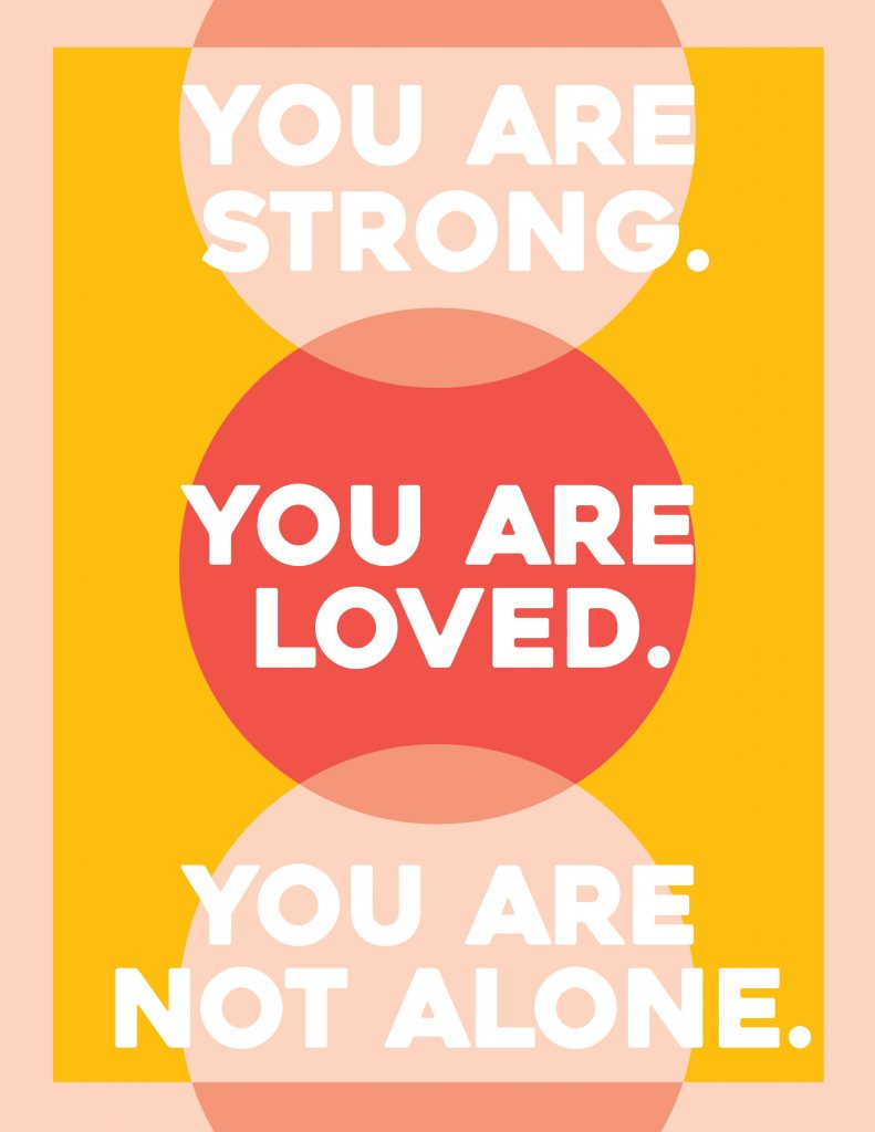 You Are Not Alone Poster 3 Printable Poster for Covid Patients