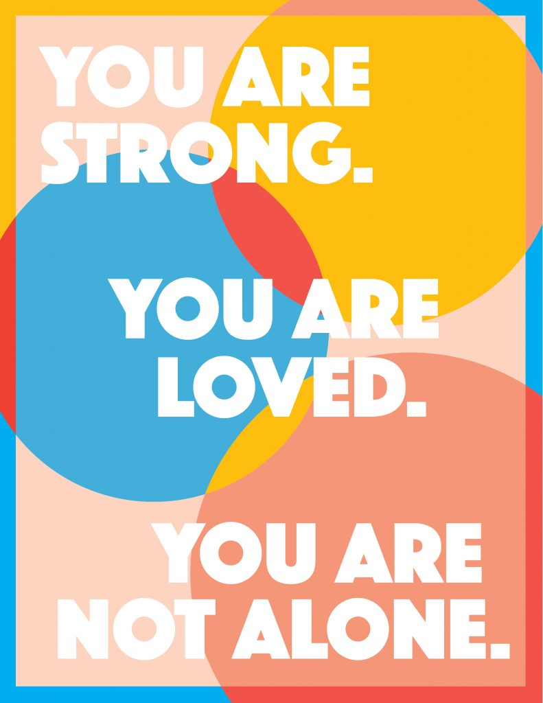 You Are Not Alone Poster 4 Printable Poster for Covid Patients