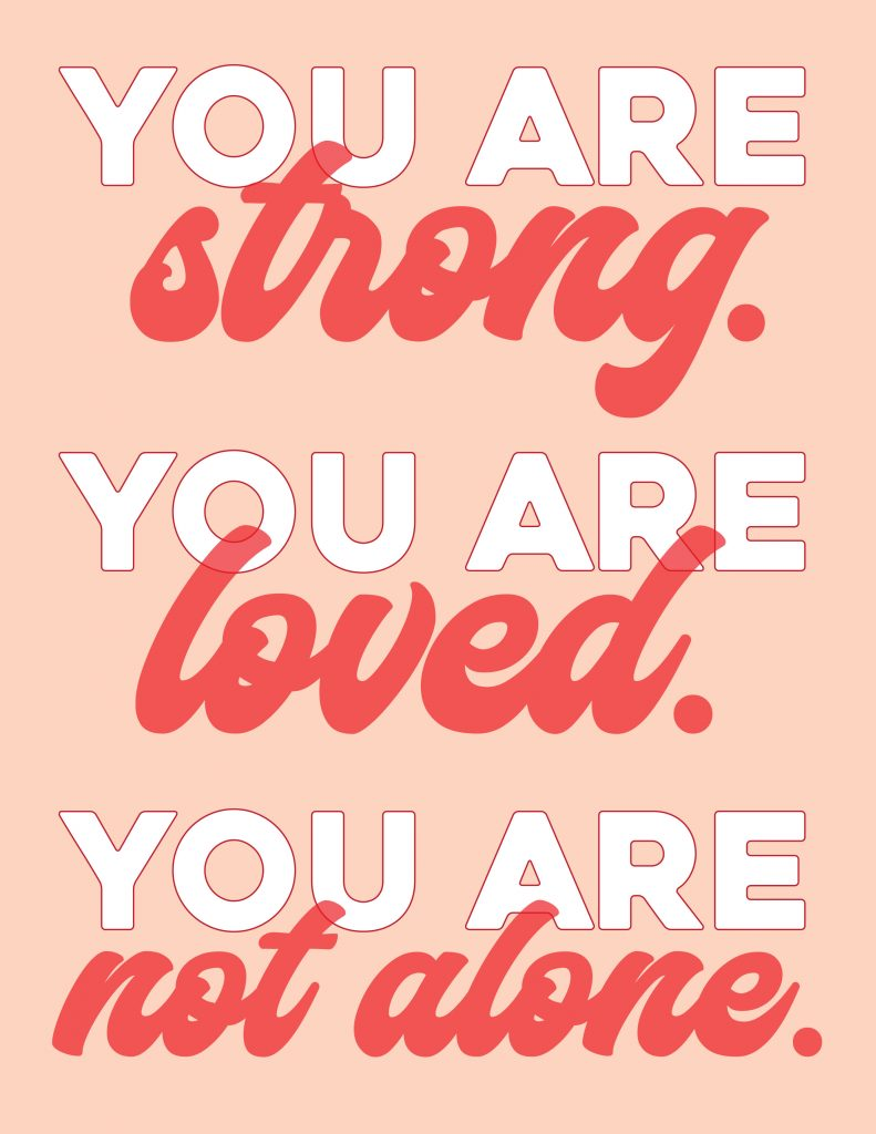 You Are Not Alone Poster 5 Printable Poster for Covid Patients